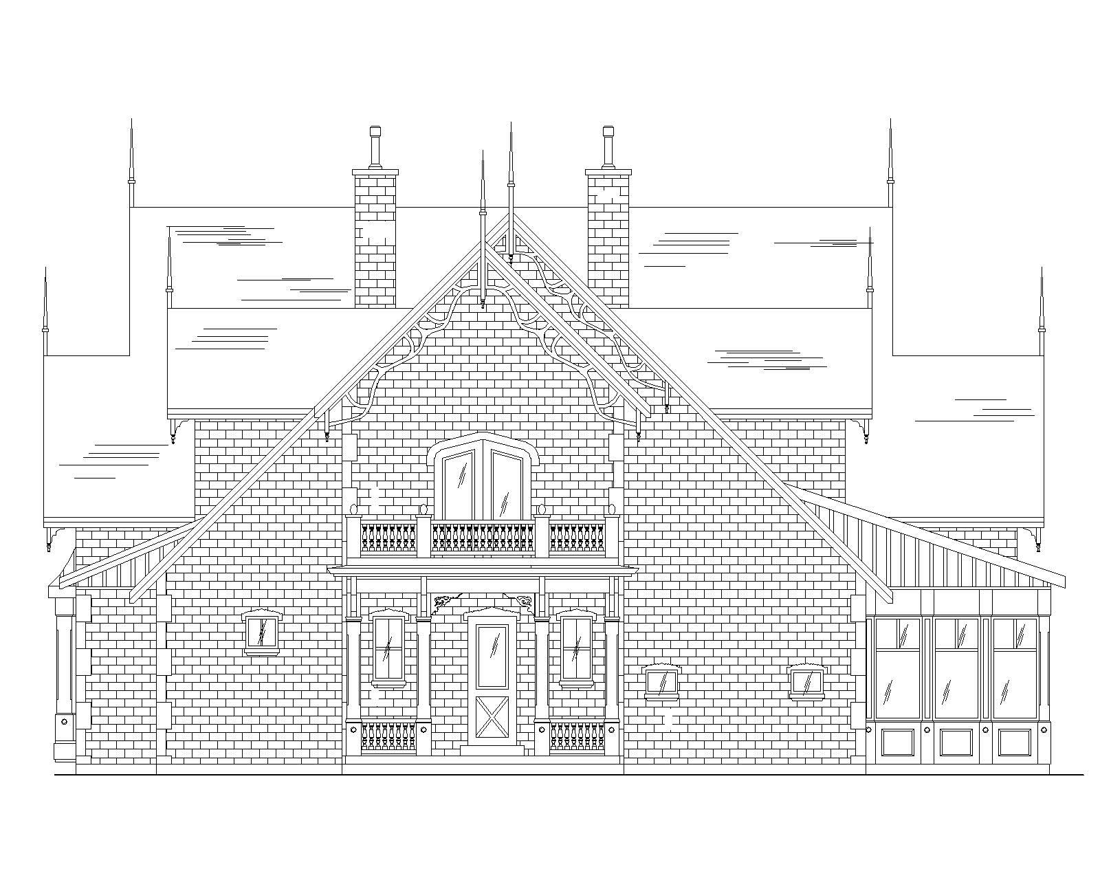 Luxury Victorian House Plans Home Design Vh Ts4811