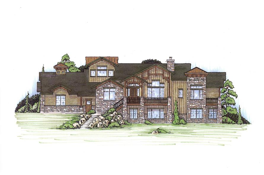 5-Bedroom, 2335 Sq Ft Country Home Plan - 135-1009 - Main Exterior