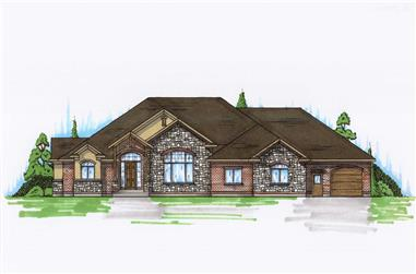 3-Bedroom, 2997 Sq Ft Country House Plan - 135-1011 - Front Exterior