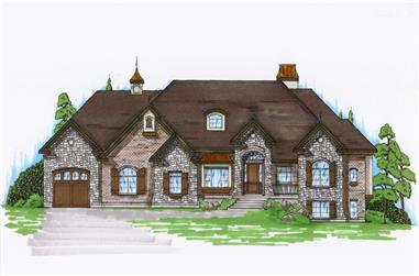 6-Bedroom, 2360 Sq Ft European Home Plan - 135-1013 - Main Exterior