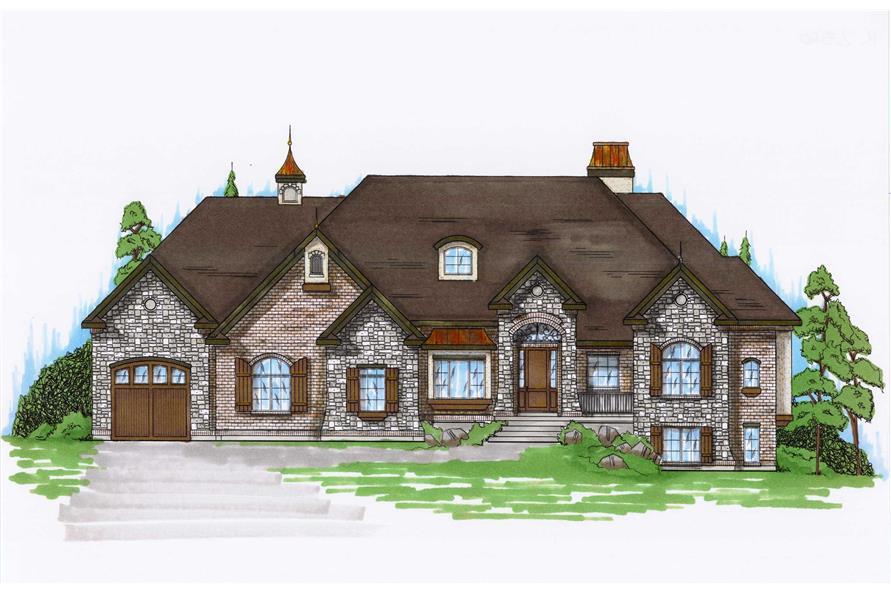 6-Bedroom, 2360 Sq Ft European Home Plan - 135-1013 - Main Exterior