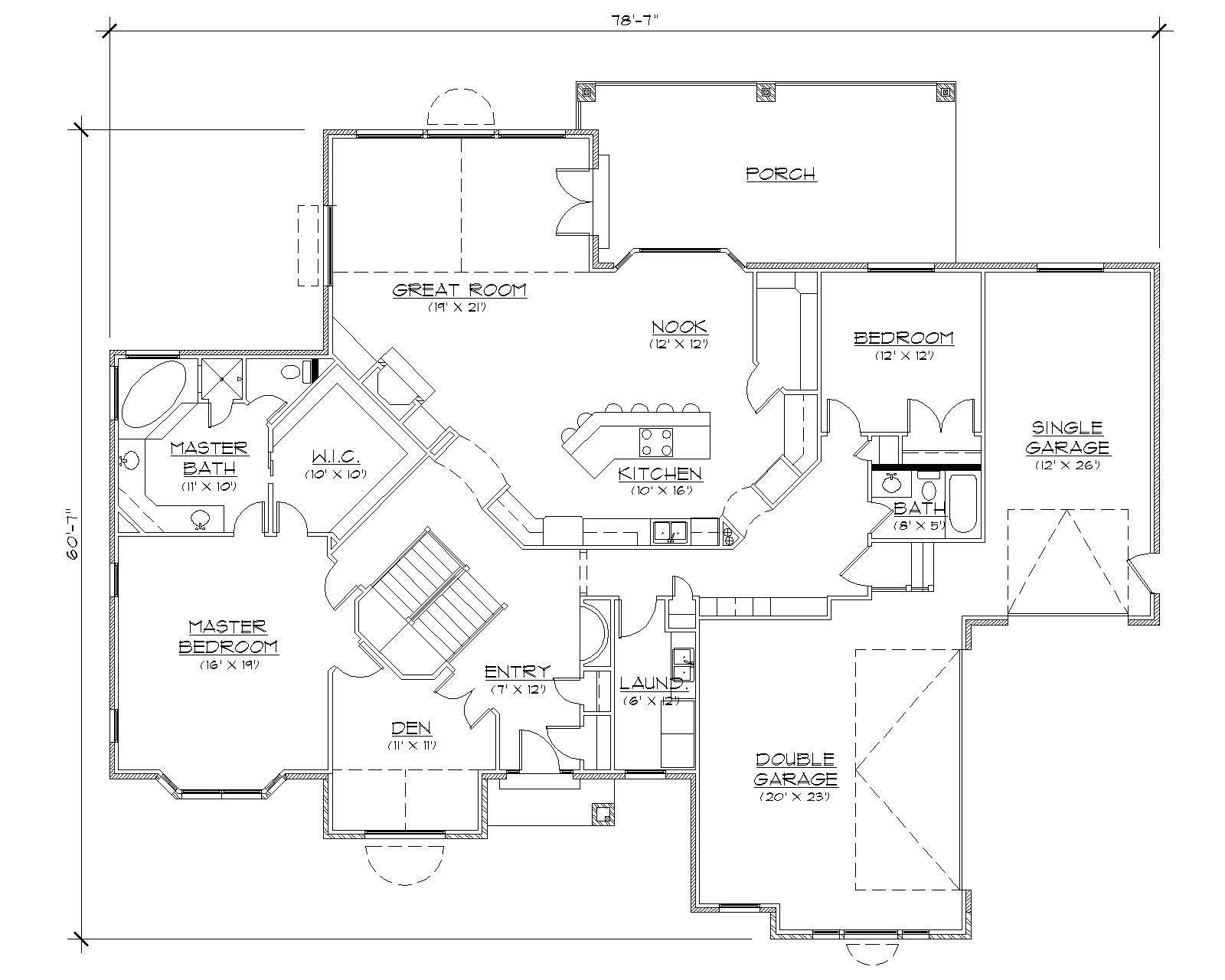 Farmhouse House Plans Home Design Vh R2399