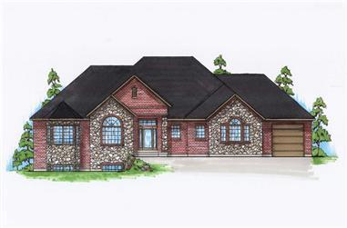 4-Bedroom, 2399 Sq Ft Rustic Home Plan - 135-1014 - Main Exterior