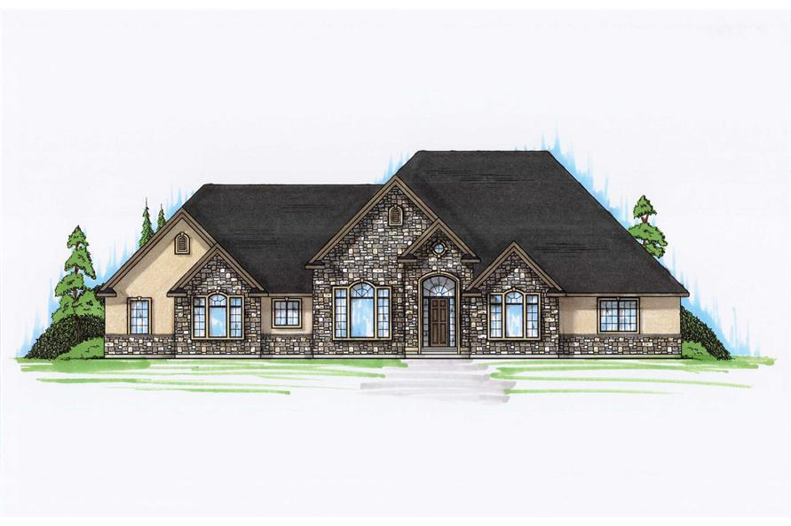 4-Bedroom, 2942 Sq Ft European Home Plan - 135-1017 - Main Exterior
