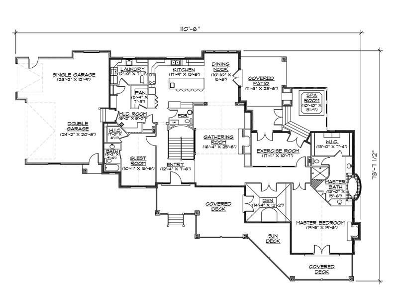 House Plan VH-R3102b Main Floor Plan
