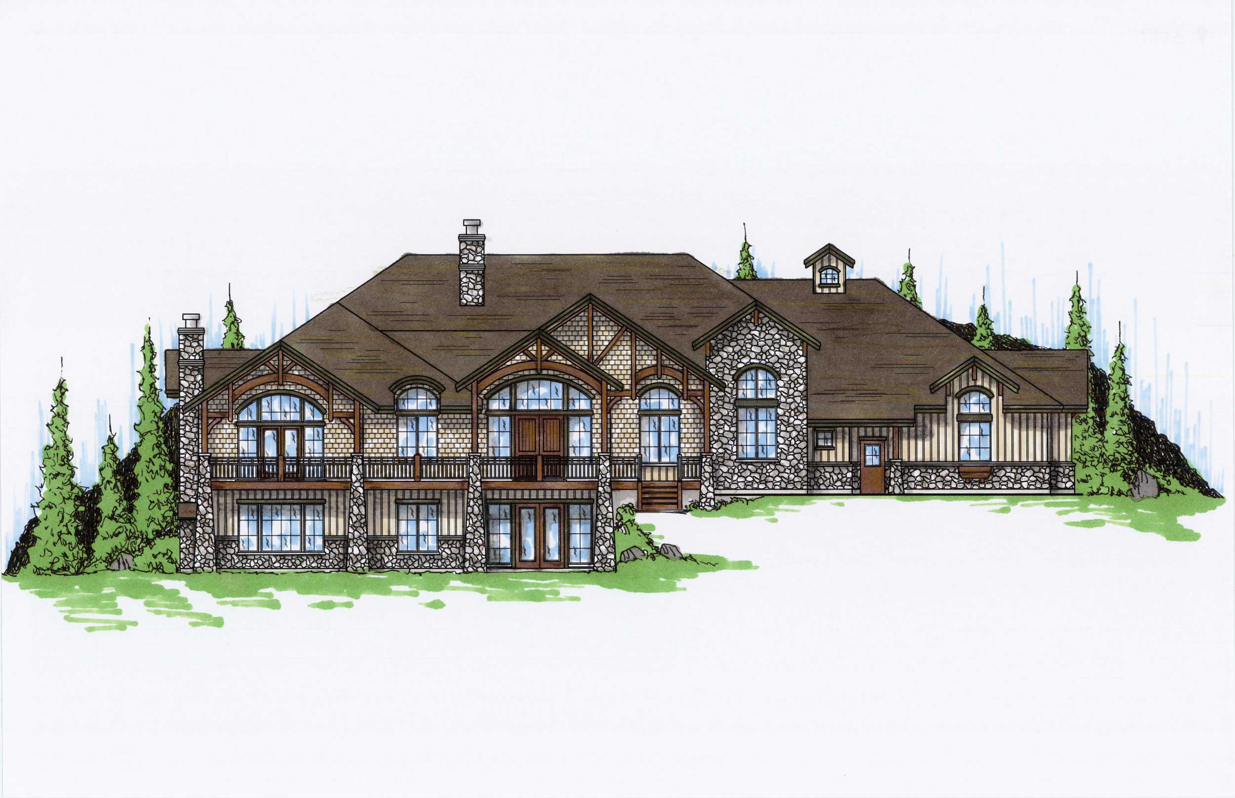 Craftsman luxury house plans home design vh r3117 - Craftman style home plans collection ...