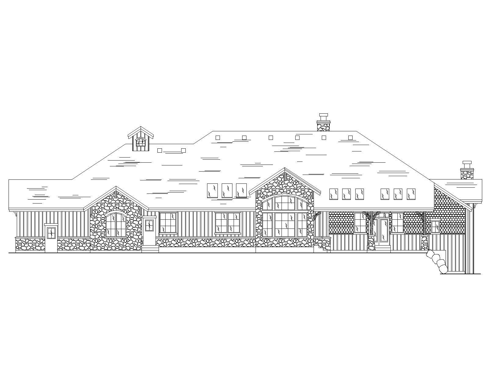 Craftsman Luxury House Plans Home Design Vh R3117
