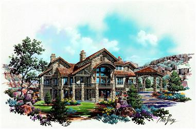 4-Bedroom, 4179 Sq Ft Country House Plan - 135-1020 - Front Exterior