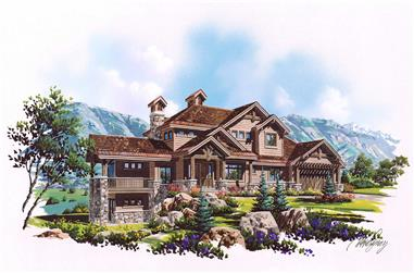 6-Bedroom, 3458 Sq Ft Country House Plan - 135-1024 - Front Exterior