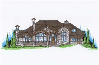 4-Bedroom, 3592 Sq Ft Country House Plan - 135-1027 - Front Exterior