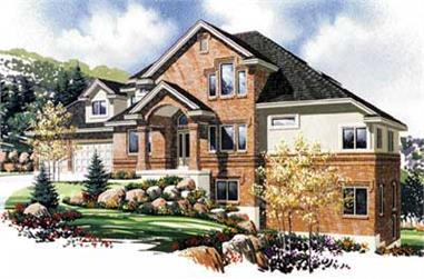 7-Bedroom, 4537 Sq Ft Luxury House Plan - 135-1031 - Front Exterior