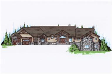 5-Bedroom, 4125 Sq Ft Craftsman House Plan - 135-1032 - Front Exterior