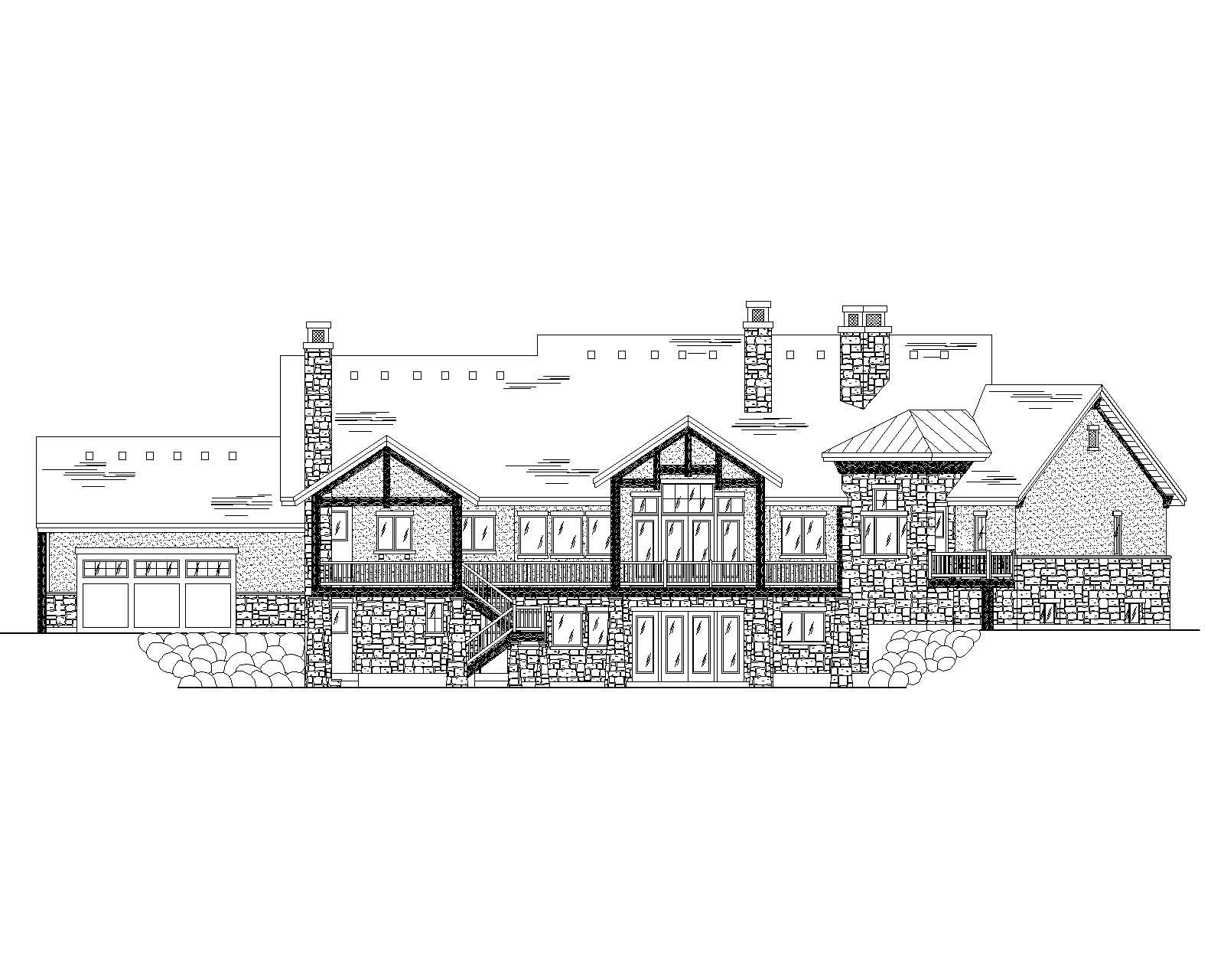 Craftsman Luxury House Plans Home Design Vh R3646