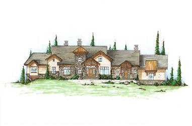 5-Bedroom, 3646 Sq Ft Craftsman House Plan - 135-1033 - Front Exterior