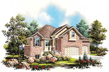5-Bedroom, 2531 Sq Ft Traditional Home Plan - 135-1035 - Main Exterior