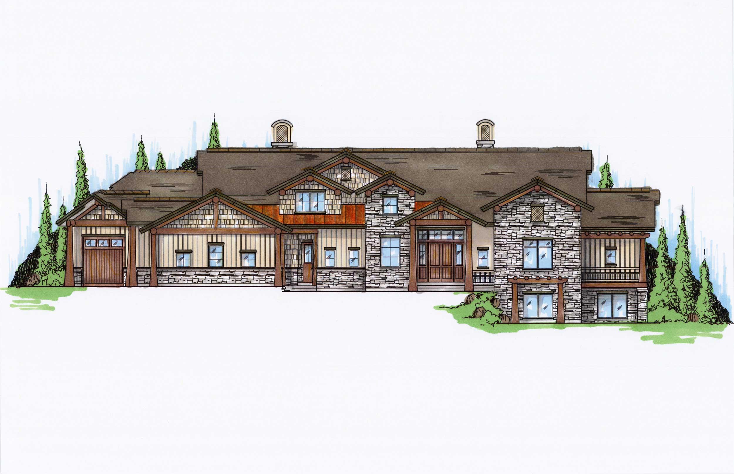 5 bedroom craftsman luxury house plans home design 135 1036 for 5 bedroom luxury house plans