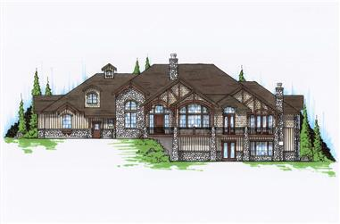 5-Bedroom, 3761 Sq Ft Country House Plan - 135-1038 - Front Exterior