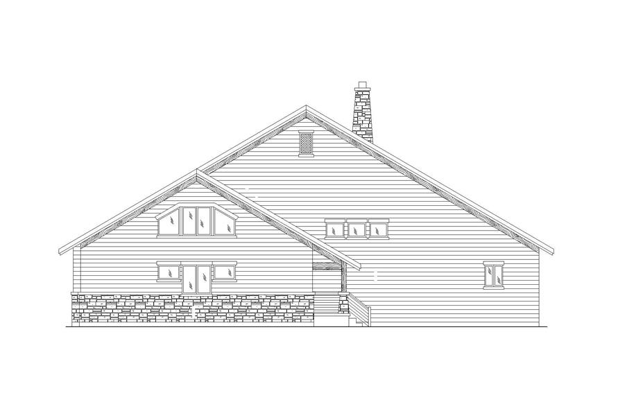 Home Plan Rear Elevation of this 4-Bedroom,2475 Sq Ft Plan -135-1039