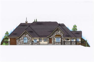 5-Bedroom, 2458 Sq Ft European House Plan - 135-1041 - Front Exterior