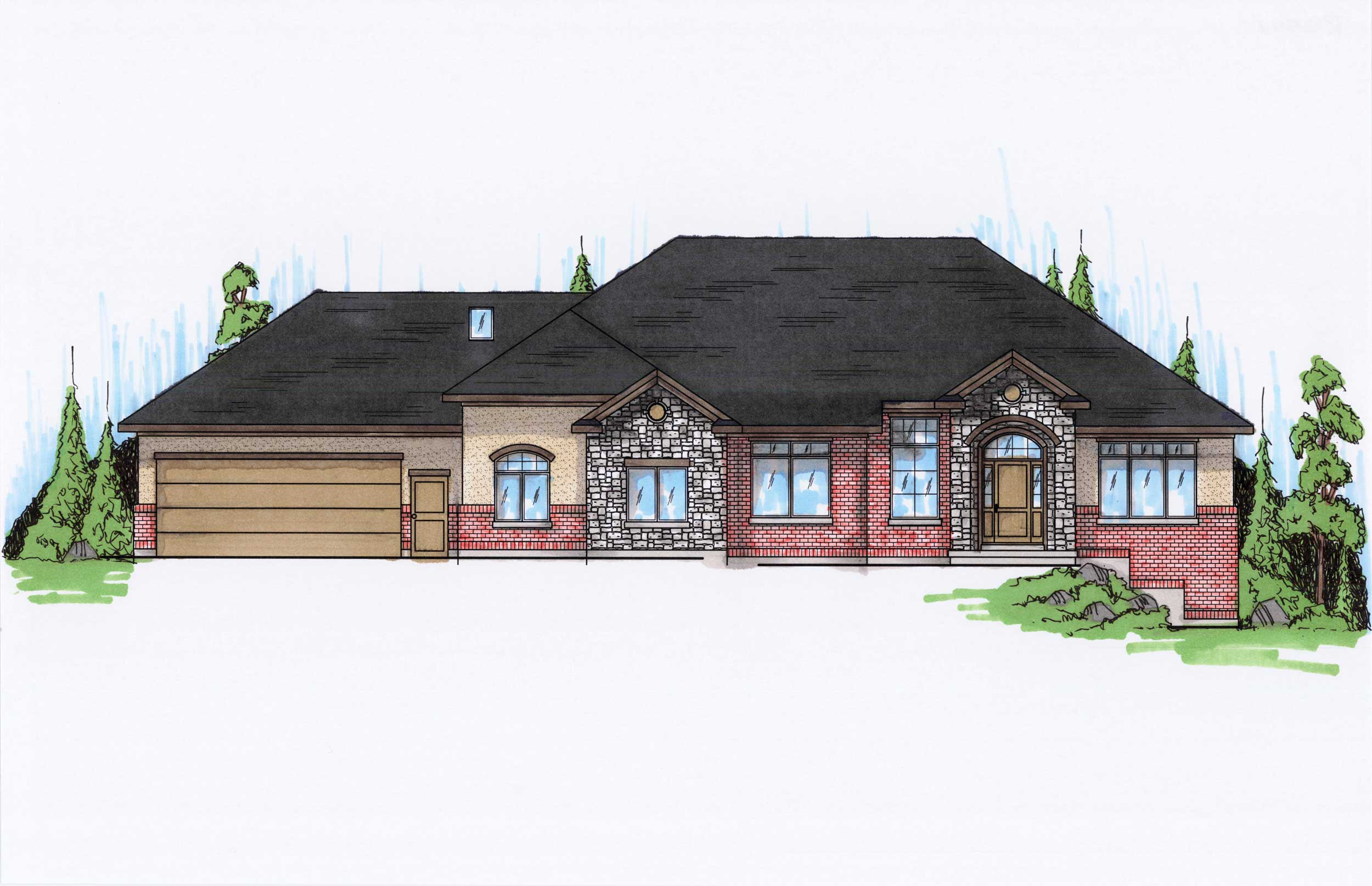 Traditional House Plans Home Design Vh R2591