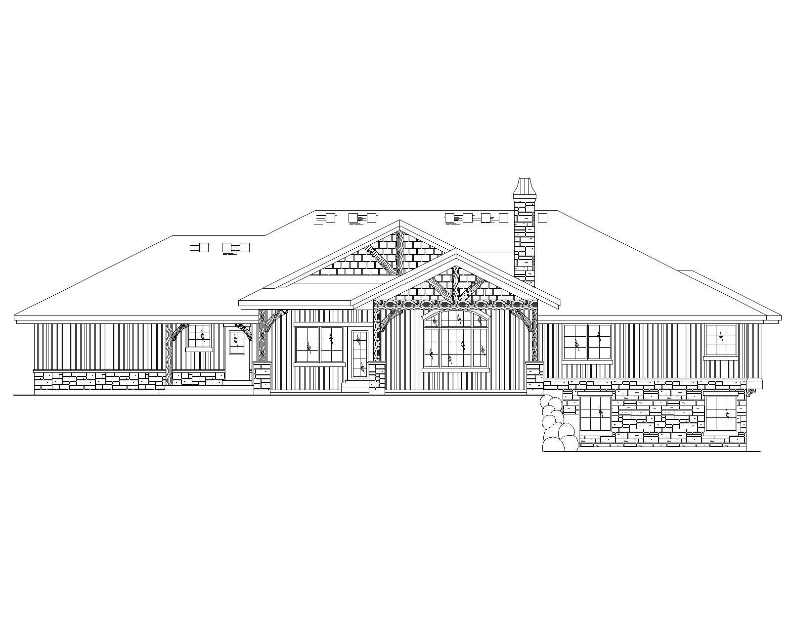 Craftsman House Plans Home Design Vh R2581