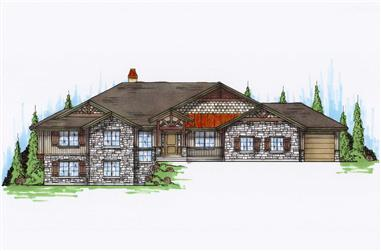 5-Bedroom, 2581 Sq Ft Craftsman House Plan - 135-1045 - Front Exterior