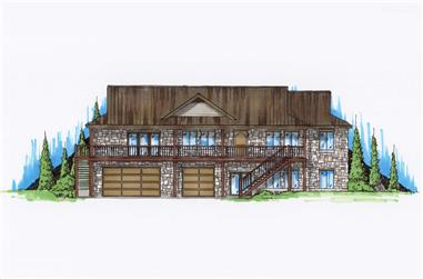 4-Bedroom, 2450 Sq Ft Country Home Plan - 135-1046 - Main Exterior