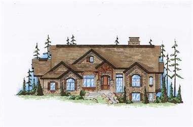5-Bedroom, 2475 Sq Ft Country Home Plan - 135-1048 - Main Exterior