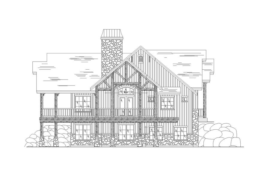 Home Plan Left Elevation of this 3-Bedroom,2495 Sq Ft Plan -135-1049