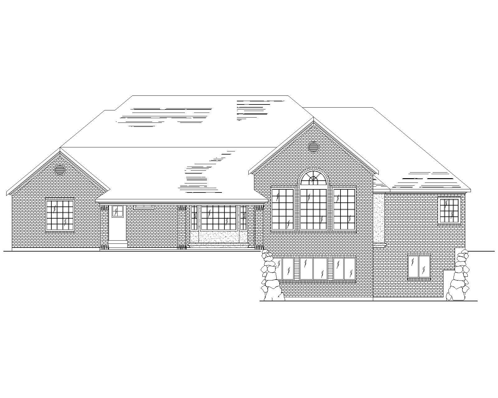 Traditional House Plans Home Design Vh R2898