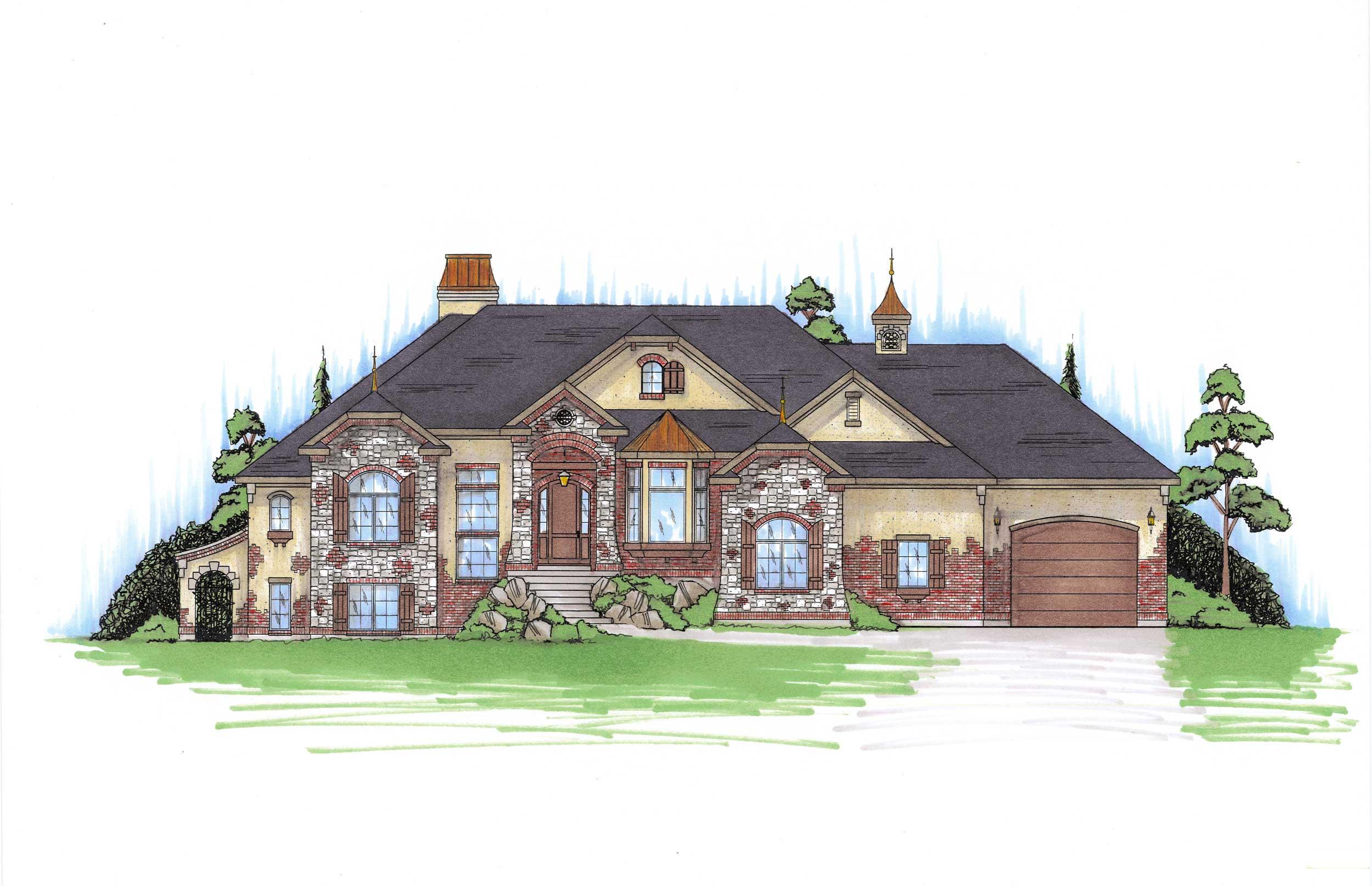 European house plans home design vh ts2866 for European home collection