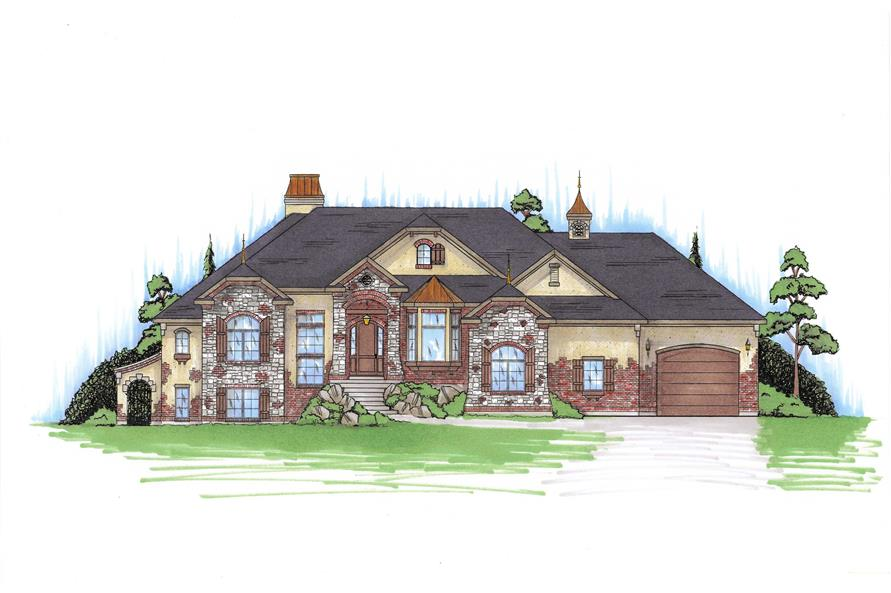 6-Bedroom, 2866 Sq Ft European Home Plan - 135-1052 - Main Exterior