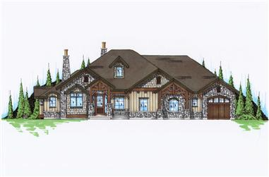 6-Bedroom, 2597 Sq Ft Rustic Craftsman House Plan - 135-1054 - Front Exterior