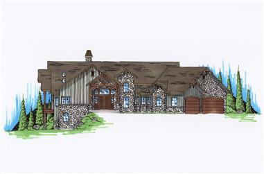 3-Bedroom, 2600 Sq Ft Country House Plan - 135-1055 - Front Exterior
