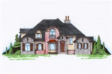 5-Bedroom, 2434 Sq Ft Traditional Home Plan - 135-1057 - Main Exterior