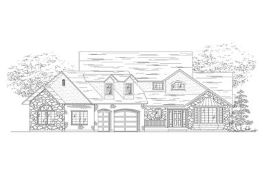 5-Bedroom, 2260 Sq Ft Farmhouse Home Plan - 135-1058 - Main Exterior