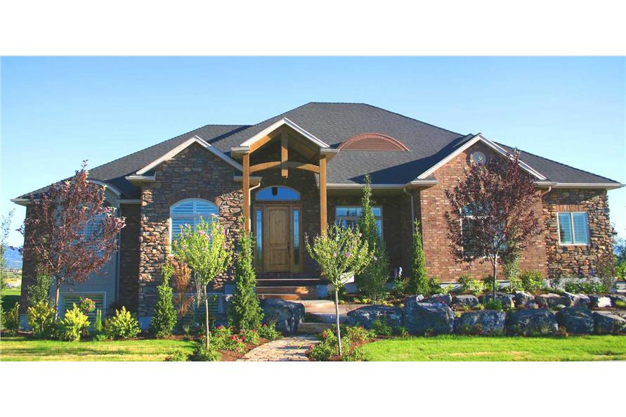3-Bedroom, 2559 Sq Ft European Home Plan - 135-1060 - Main Exterior