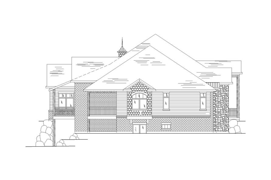 Home Plan Left Elevation of this 3-Bedroom,2559 Sq Ft Plan -135-1060