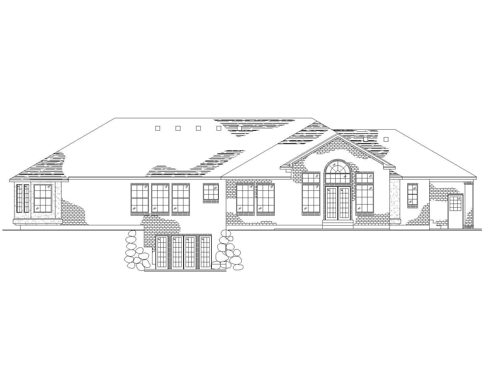 Spanish Mediterranean House Plans Home Design Vh R2878