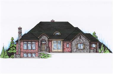 4-Bedroom, 3062 Sq Ft Contemporary House Plan - 135-1066 - Front Exterior