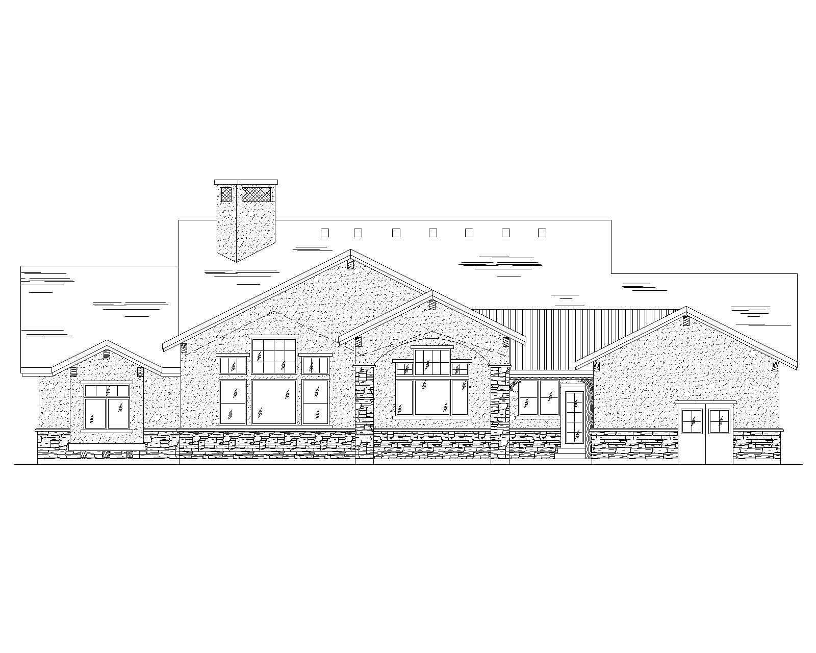Craftsman House Plans Home Design Vh R2435