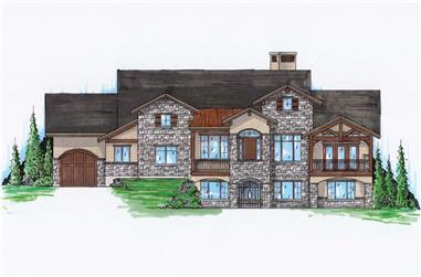 5-Bedroom, 2435 Sq Ft Craftsman Home Plan - 135-1069 - Main Exterior