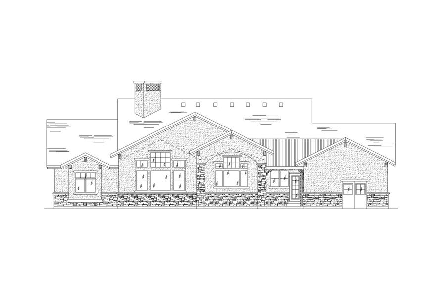 Home Plan Rear Elevation of this 5-Bedroom,2435 Sq Ft Plan -135-1069