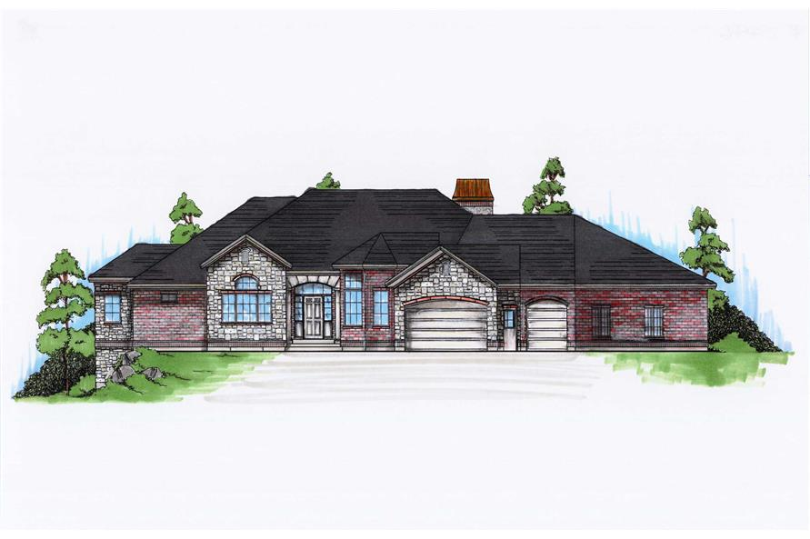 5-Bedroom, 2446 Sq Ft European Home Plan - 135-1072 - Main Exterior