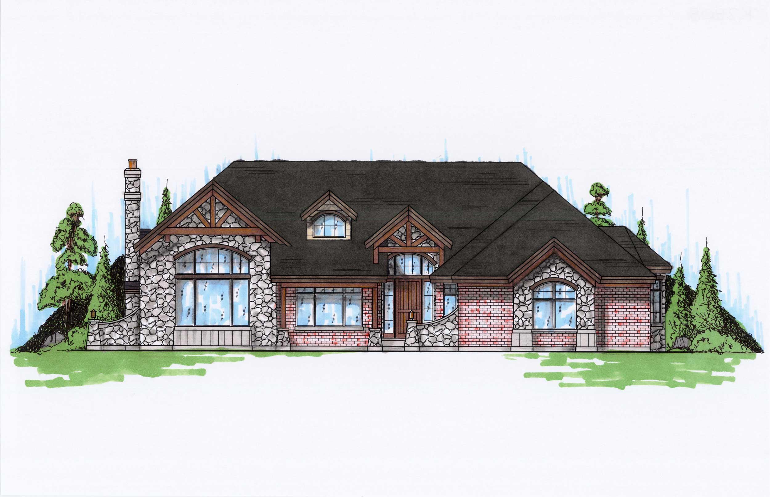 Craftsman House Plans Home Design Vh R2808