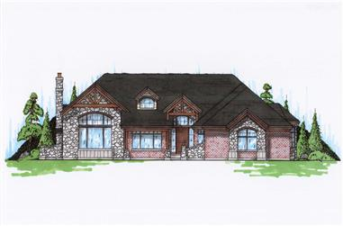 6-Bedroom, 2808 Sq Ft Craftsman Home Plan - 135-1076 - Main Exterior