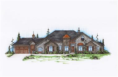 5-Bedroom, 2878 Sq Ft Country House Plan - 135-1078 - Front Exterior