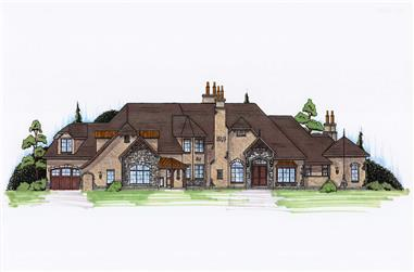5-Bedroom, 5617 Sq Ft European Home Plan - 135-1080 - Main Exterior
