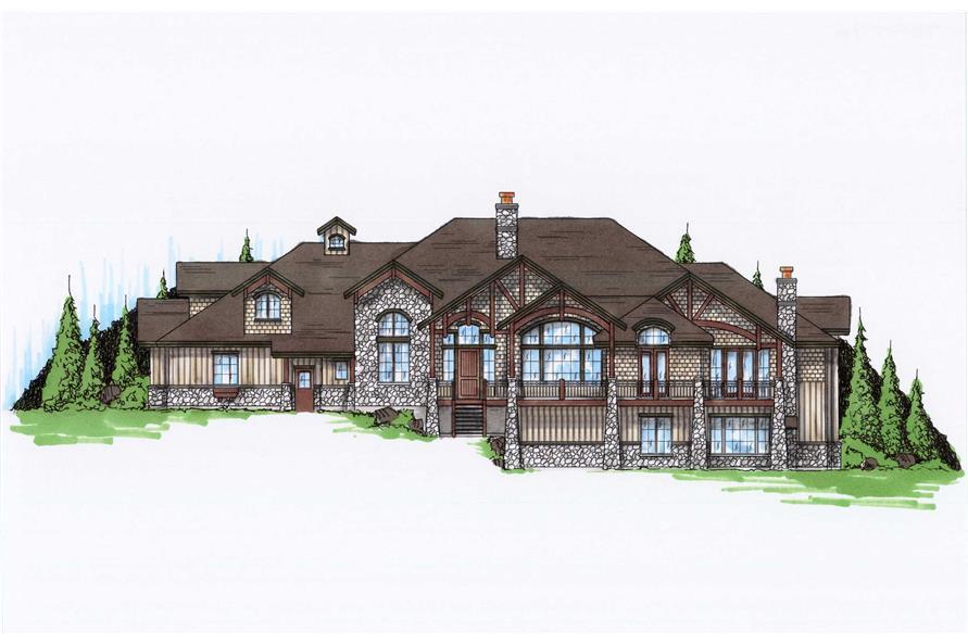 5-Bedroom, 3976 Sq Ft Craftsman House Plan - 135-1082 - Front Exterior