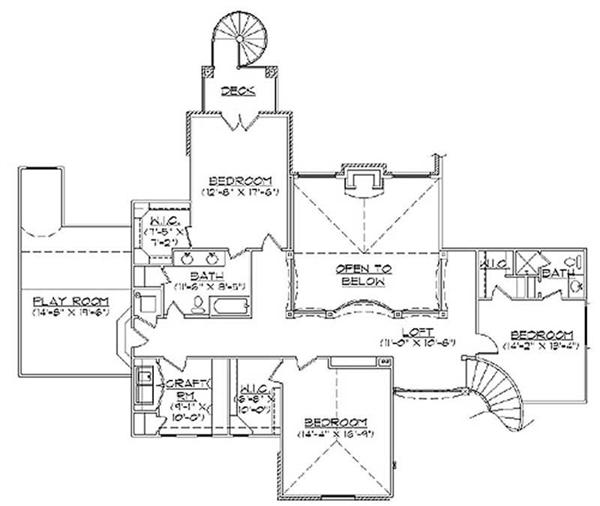 Second Floor Plan TS4914